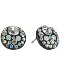 Betsey Johnson | Blue Panther Crystal Stud Earrings | Lyst