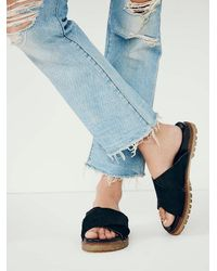 Free People | Black Faryl Robin + Womens Claremont Criss Cross Sandal | Lyst