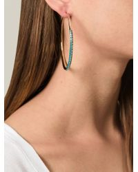 Aurelie Bidermann | Blue 'Apache' Hoop Earrings | Lyst