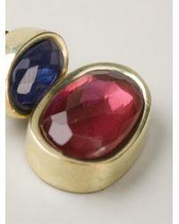 Vaubel | Red Oval Stone Earrings | Lyst