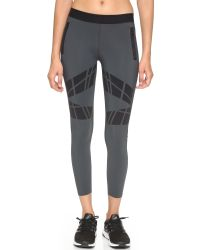 Ultracor | Gray Moto Contour Leggings - Graphite | Lyst