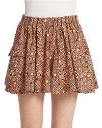 Free People | Brown So Much Sun Skort | Lyst