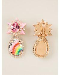 Shourouk - Pink 'galaxy' Clip-on Earrings - Lyst