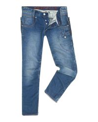 883 Police | Blue Aivali 288 Tapered Jeans for Men | Lyst