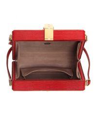 Dolce & Gabbana - Red Embossed-Leather Shoulder Bag - Lyst
