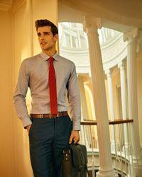 Ted Baker - Blue Fil Coupé Shirt for Men - Lyst