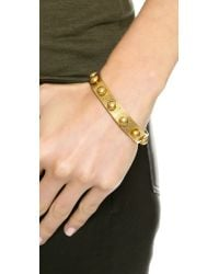 Madewell - Metallic Stud Glider Bangle - Vintage Gold - Lyst
