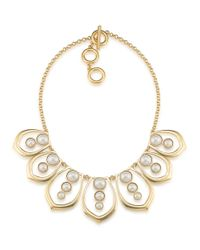Carolee | Metallic Oyster Bay Faux Pearl Petal Necklace | Lyst