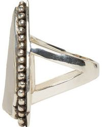 Pamela Love - Metallic Silver And Taupe Jasper Ring - Lyst
