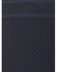 Gucci | Blue Logo Weave Scarf | Lyst