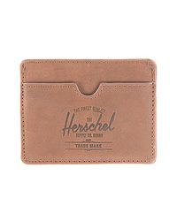 Herschel Supply Co. - The Charlie Card Holder in Brown Nubuck for Men - Lyst