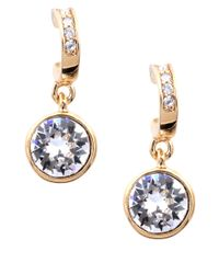 Givenchy | Metallic Goldtone And Round Crystal Drop Earrings | Lyst