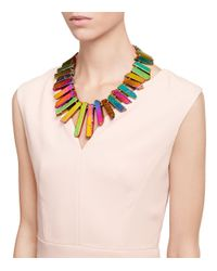 Tory Burch Multicolor Aidan Statement Necklace