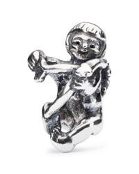 Trollbeads | Metallic Sterling Silver Cupid Bead | Lyst