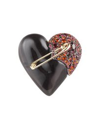 Alexis Bittar | Encrusted Black Cherry Broken Heart Pin | Lyst