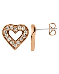 Dyrberg/Kern | Pink Dyrberg/kern Acora Heart Stud Earrings | Lyst