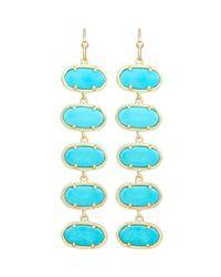 Kendra Scott - Blue Ives Turquoise Linear Earrings - Lyst
