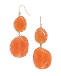 BaubleBar - Orange Boho Drops-Coral/Gold - Lyst