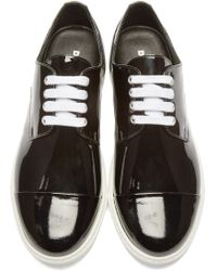 DSquared² - Black Patent Leather Low-top Sneakers - Lyst
