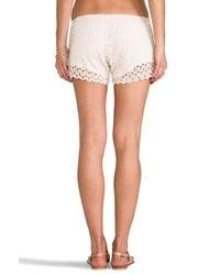 Tylie | White Crochet Shorts | Lyst