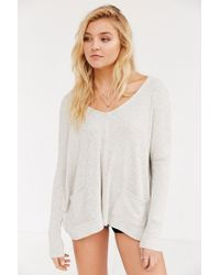 BDG - White Mia Pocket Pullover Sweater - Lyst