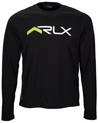 "Polo Ralph Lauren | Black Polo Sport ""rlx"" Graphic T-shirt for Men 