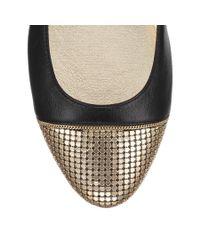 Jimmy Choo   Black Waine Embellished Leather Ballet Flats   Lyst