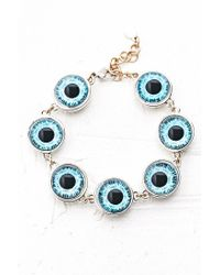 Cheap Monday - Blue Eye Bracelet - Lyst