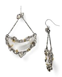 Alexis Bittar - Metallic Suspended Lucite Crescent Earrings - Lyst