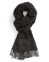 Ferragamo | Black 'gandam' Cashmere Scarf for Men | Lyst