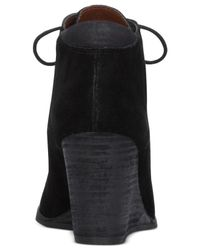Lucky Brand | Black Women's Sumba Lace-up Wedge Booties | Lyst