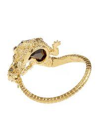 Alexander McQueen - Metallic Crystal Lizard Bracelet - Lyst