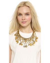 Erickson Beamon | Metallic My Beloved Charm Lariat Necklace - Gold | Lyst