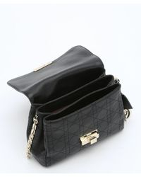 Dior - Black Cannage Stitched Calfskin 'diorling' Chain Shoulder Bag - Lyst