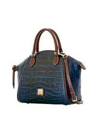 Dooney & Bourke | Blue Sydney Embossed Leather Satchel | Lyst