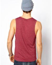 ASOS   Red Vest with Deep Scoop Neck for Men   Lyst