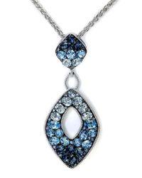 Effy - Metallic Classique 14k White Gold And Diamond Pendant Necklace - Lyst