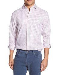 GANT | White Tattersall Long Sleeve Sport Shirt for Men | Lyst