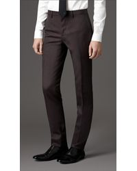 Burberry | Brown Slim Fit Wool Suit for Men | Lyst