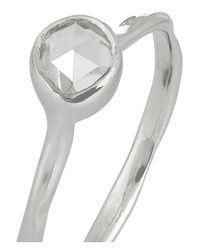 Monica Vinader - Metallic Siren Sterling Silver Topaz Ring - Lyst
