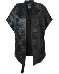 Ann Demeulemeester | Black Textured Cotton-Blend Jacket | Lyst