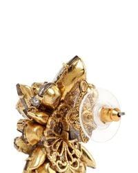 Erickson Beamon | Metallic 'temptress' Crystal Cluster Earrings | Lyst