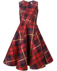 P.A.R.O.S.H. - Red 'poquard' Dress - Lyst