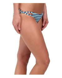 Volcom | Blue Broken Lines Full Bottoms | Lyst