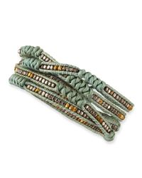 Nakamol | Green Beaded Leather Wrap Bracelet | Lyst