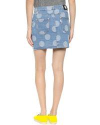 KENZO | Denim Skirt - Sky Blue | Lyst
