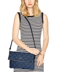 Kate Spade | Blue Small Hayden Seahorse Satchel | Lyst