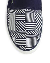 Lacoste - Blue Printed Slipon Sneakers for Men - Lyst
