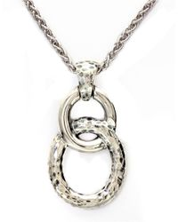 Effy | Metallic Balissima Sterling Silver Circle Link Pendant Necklace | Lyst