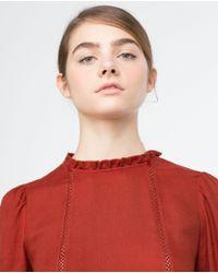Zara   Orange Frilled Dress   Lyst